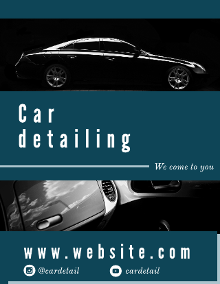 Car Detailing Cleaning Service Template