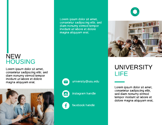 Green College Housing Brochure Template