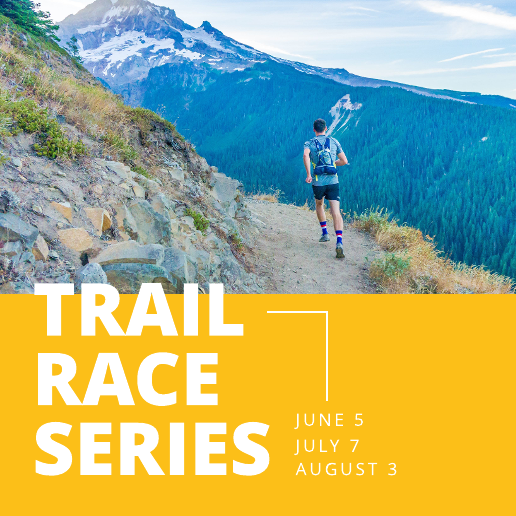 Trail Running Yellow Facebook Post Template