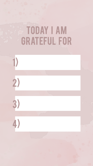 Pink Watercolor Grateful Instagram Story Template