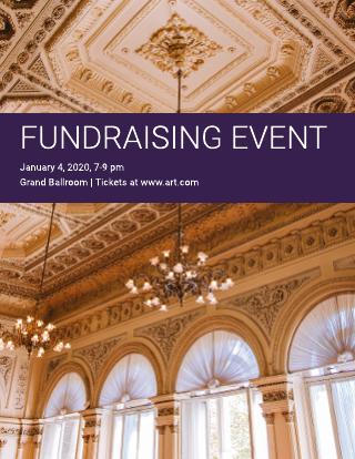 Formal fundraising flyer template