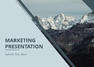 Peak Marketing Presentation Template