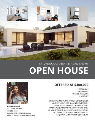 Modern Open House Flyer Template