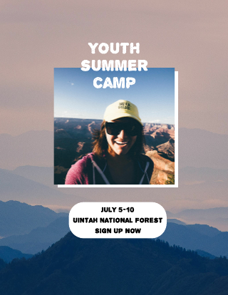 Outdoor Photo Summer Camp Flyer Template
