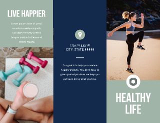 Blue and Green Exercise Medical Tri-Fold Brochure Template