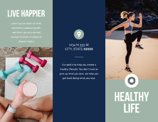 Blue and Green Exercise Medical Brochure Template
