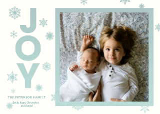 Joy Happy Holiday's Card Template