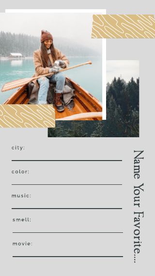 Photo Collage Get To Know Me Instagram Story Template