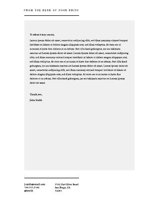 Personal Letterhead Template #1