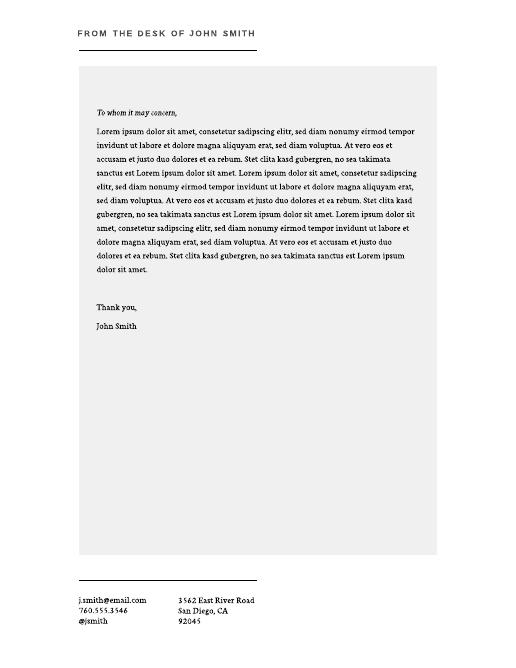 Personal Letterhead 1