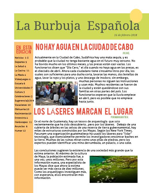 AP Spanish Newsletter Template