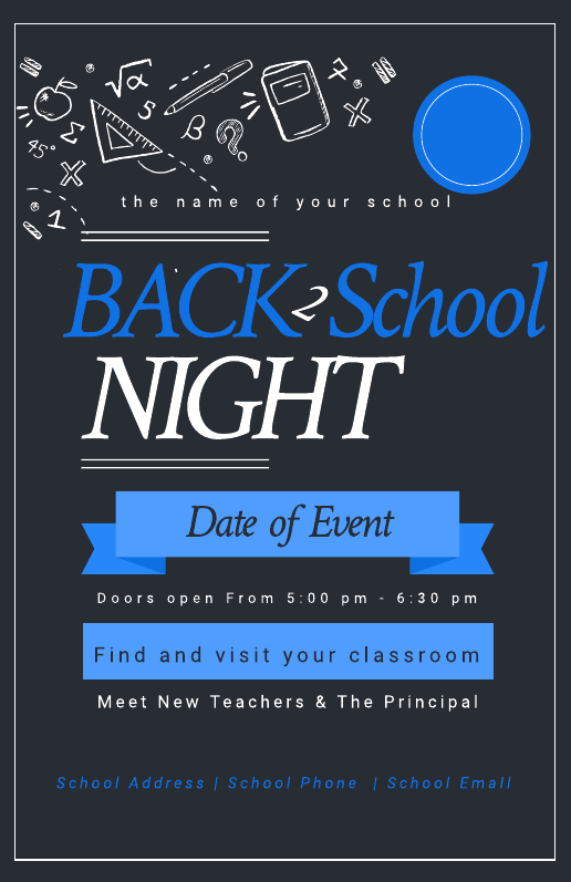 Back to School Education Poster Template