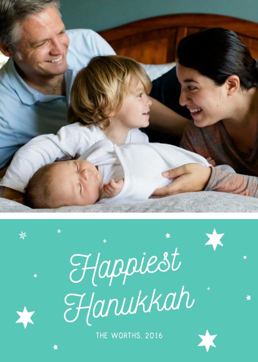 Joy Hanukkah Card Template