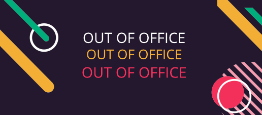 Shapes Out of Office Facebook Cover Template