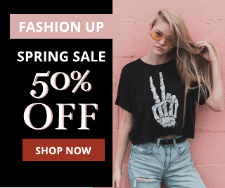 Black and Pink Fashion Banner Ad Template