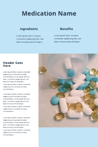 Medication Poster Template