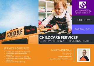Digital babysitting flyer template