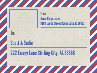 Airmail Shipping Label