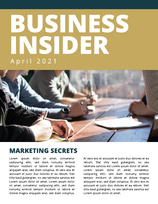 Business Insider Company Newsletter Template
