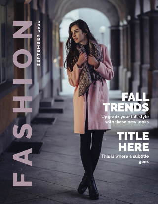Women's Fashion Magazine Cover Template