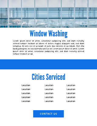 Window Washing Cleaning Flyer Template