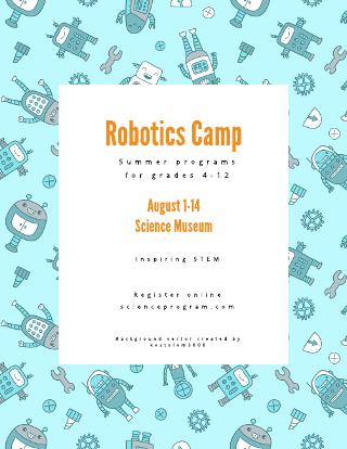 Robotics Camp Flyer Template