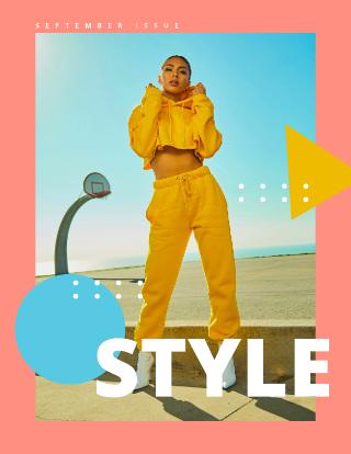 Geometric Fashion Magazine Cover Template