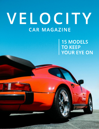 Simple Clean Car Magazine Cover Template