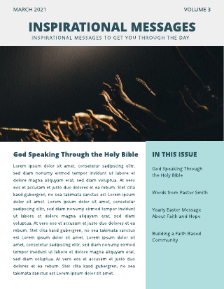 Church Congregation Photo Church Newsletter Template