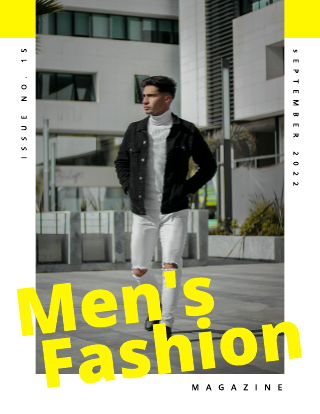 Men's Fashion Magazine Cover Template
