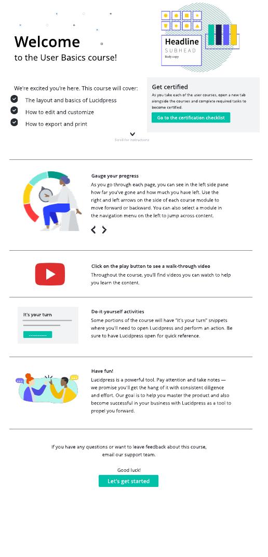 Course website template