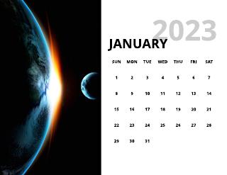 Nature monthly calendar template