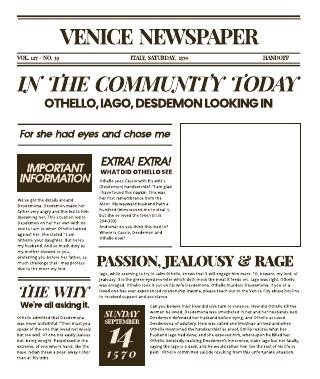 Newspaper - Othello