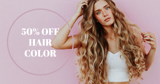 Hair Coloring Facebook Ad Template