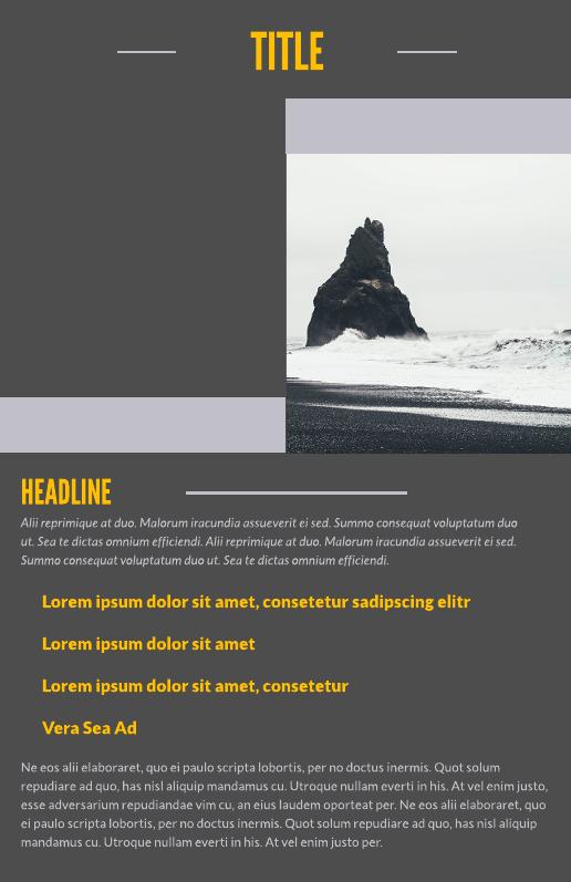 grey skies business leaflet template