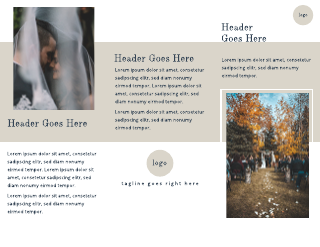 Light Brown Simple Wedding Brochure Template