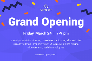 Grand Opening Postcard Template