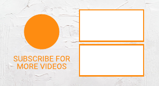 Orange and Texture Youtube End Screen Template