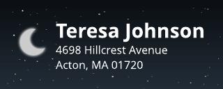 Crescent Moon Address Label