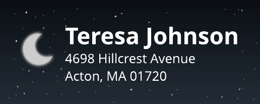 Crescent Moon Address Label