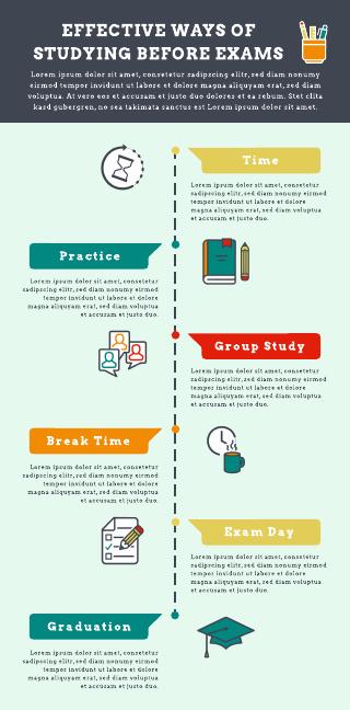 Study methods infographic template