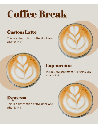 Brown Coffee Menu Template