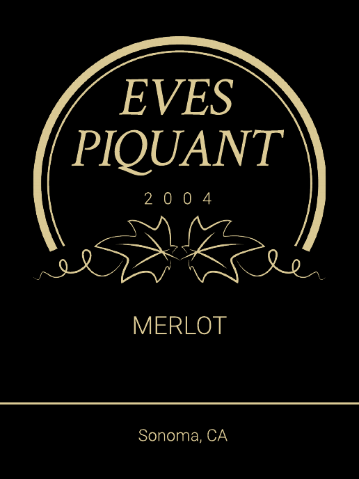 Luxury Wine Product Label