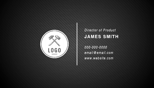 Striped Black Business Card Template
