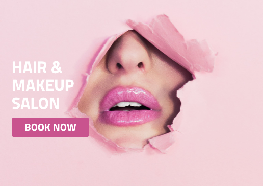 Hair and makeup salon flyer template