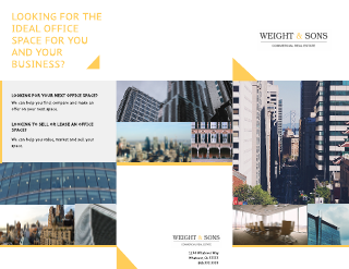 Commercial Real Estate Company Tri-Fold Brochure Template