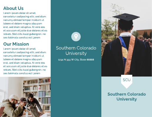 Simple Blue College Brochure Template