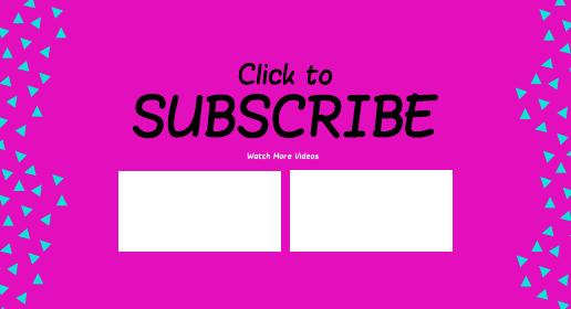 Neon Shape Youtube End Screen Template