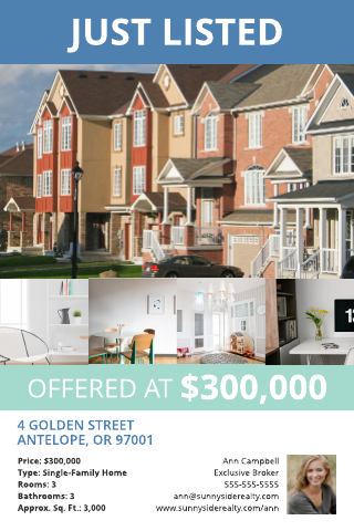 Townhouse Listing Postcard Template