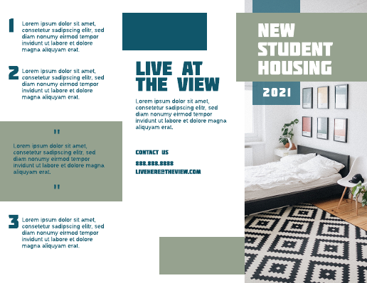 College Dorm Brochure Template